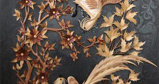 معرق کاری هنر شگفت انگیز و خارق العاده بر روی چوب